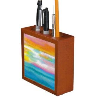 Ocean Sea Art Pencil Office Desk Gift 3 Desk Organizer by CricketDiane