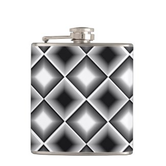 Black and White Pattern Illusion Flask 5 by CricketDiane