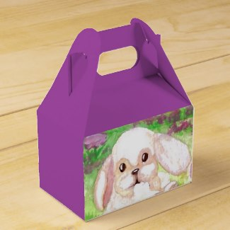 Easter Bunny Purple Girly Party Favor Gift Box 6 Party Favor Boxes by CricketDiane