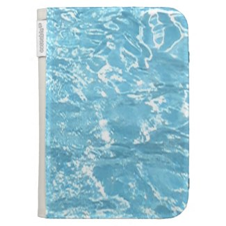 Water Summertime Sunlight Blue White Pool Kindle Cover by CricketDiane