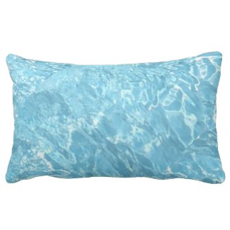 Water Summertime Sunlight Blue White Travel Pillow by CricketDiane