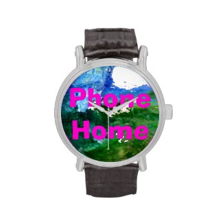 Abstract Art Landscape Phone Home Wristwatch by CricketDiane