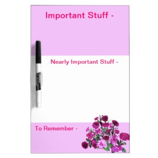 All Pink Nothing But Color Pink Dry Erase Board by CricketDiane