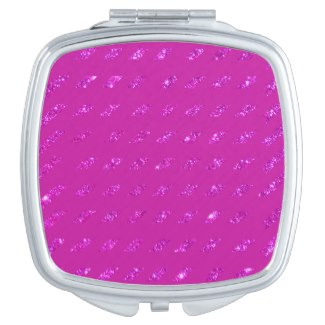 Compact Cosmetic Mirror Hot Pink Vanity Mirrors by CricketDiane