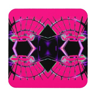 Future Science Girl Pink Girly Sci Stuff Beverage Coasters by CricketDiane