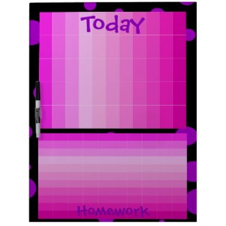 Girly Today To Do Homework Pink Note Board 29 Dry Erase Whiteboards by CricketDiane