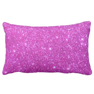 Hot Pink Sparkle Glittery CricketDiane Art Pillow by CricketDiane