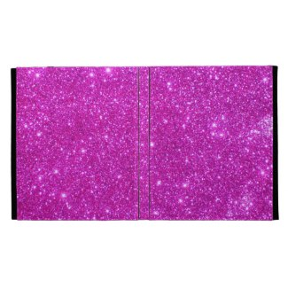 Hot Pink Sparkle Glittery CricketDiane iPad Folio iPad Folio Cover by CricketDiane