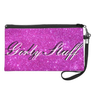 Hot Pink Sparkle Glittery Fun Pink Clutch Purse Wristlet Clutch by CricketDiane