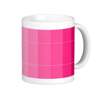 Only Color Hot Pink Ombre Coffee Mug by CricketDiane