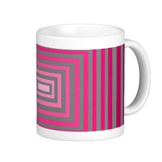 Optical Pink Purple Grey Art Illusion Coffee Mug by CricketDiane