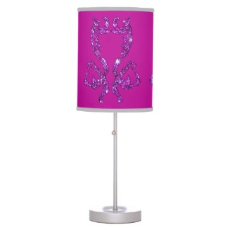 Ornate Brocade Pink Magenta Silver Sparkle Decor Lamps by CricketDiane