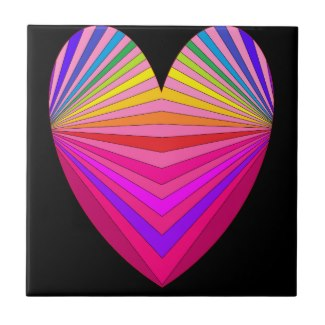 Pink Black Decor Heart Fashion Girly Tile 4 by CricketDiane