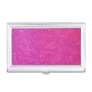 Pink Glitter Sparkly Business Card Case 2 by CricketDiane
