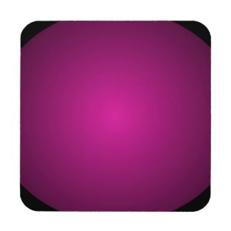 Pink Hot Pink and Black Plainly 3D Customizable Drink Coaster by CricketDiane