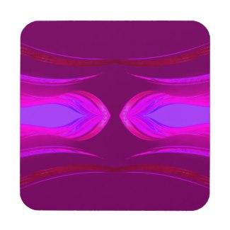 Pink Hot Pink Purple Dreams CricketDiane Beverage Coaster by CricketDiane