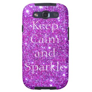 Pink Keep Calm and Sparkly Glam Glitter Designer by CricketDiane