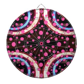 Pink & Neon Wild Girlie Fashion Dartboard by CricketDiane