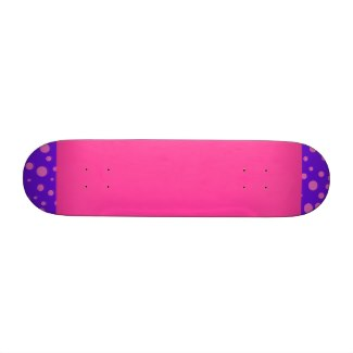 Pink Purple and Polka Dots Girls Skateboard by CricketDiane