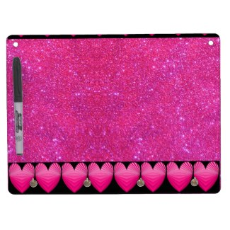 Pink Purple Sparkly Dry Erase Board Girly Fun 10 by CricketDiane