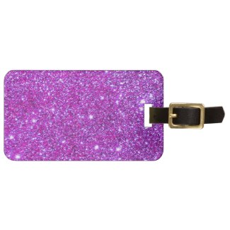 Pink Purple Sparkly Glam Glitter Designer Tags For Luggage by CricketDiane