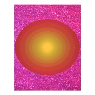Pink Sparkly Sun Vibrant Color Flyer 2 Letterhead Design by CricketDiane