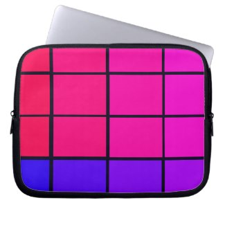 Spectrum Colorful 12 Zipper Soft Laptop iPad Case Laptop Sleeve by CricketDiane