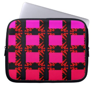 Spectrum Colorful 25 Zipper Soft Laptop iPad Case Laptop Computer Sleeves by CricketDiane