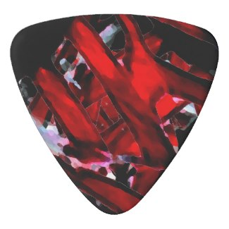 Blood Red Heart Rock n Roll Metal Guitar Pick by CricketDiane