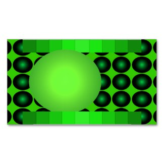 Green and Green Business Card Mod Retro 1 by CricketDiane