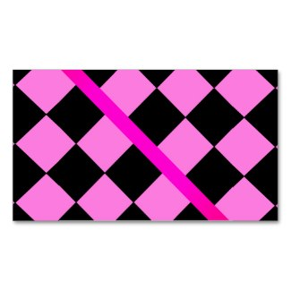 Hot Pink and Black Checkerboard Biz Card 2 Business Cards by CricketDiane