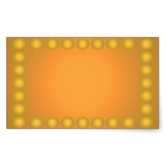 Nothing But Color Yellow Gold Business Cards 3b Sticker by CricketDiane