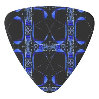 NYC Blue Fire SciFi Rock n Roll Guitar Pick by CricketDiane