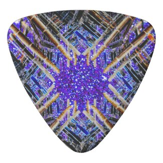 NYC Landmarks Stars Urban Funk Guitar Pick Music 9 by CricketDiane