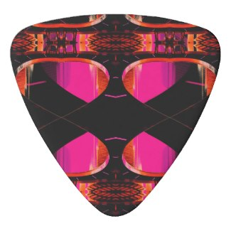 NYC Landmarks Urban Funk Guitar Pick Music 3 by CricketDiane