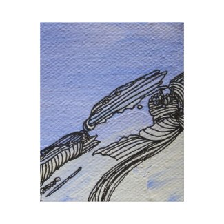 Picture Abstract Blue Sandstone Canvas Art by CricketDiane