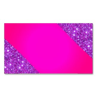 Pink Sparkly Glam Girly Fun Business Card 4 by CricketDiane