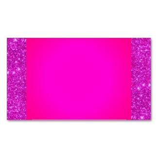 Pink Sparkly Glam Girly Fun Business Card 6 by CricketDiane
