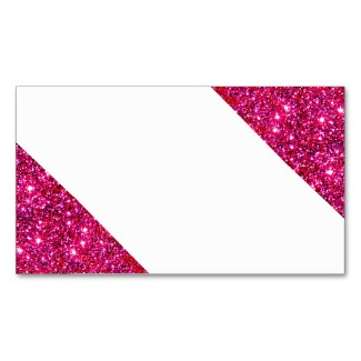 Red Sparkly Glam Visual Identifier Business Card 2 by CricketDiane