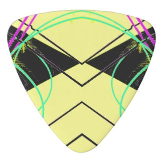 Slightly Urban Funk Guitar Pick Yellow by CricketDiane