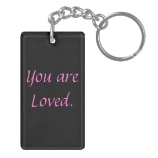 Inspiration Encouragement Dorm Girl College School Rectangle Acrylic Keychain by CricketDiane