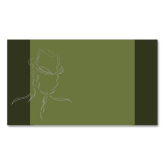 Business Cards Olive and Gray Man in a Hat 2 by CricketDiane
