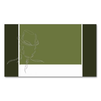 Business Cards Olive and Gray Man in a Hat 3 by CricketDiane
