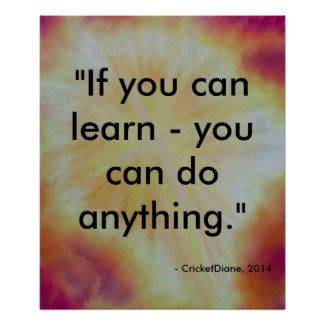 Inspiration Poster Learning Teaching Education by CricketDiane