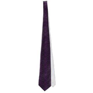 Men Black Purple Polka Dot Fun Pattern Gift Tie by CricketDiane