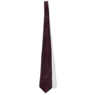 Men's Black Red Wine Polka Dot Fun Fashion Gift Tie by CricketDiane