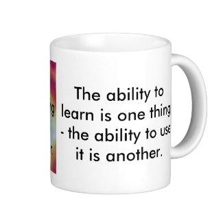 Quote Mug Teaching Learning Curiosity STEM by CricketDiane