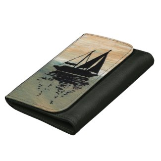 Sailing Sailboat Nautical Ships Ocean Wallet Gift by CricketDiane