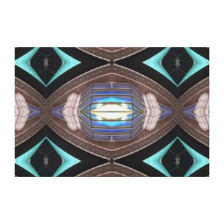 Complex Modern Art Decor Turquoise Aqua by CricketDiane