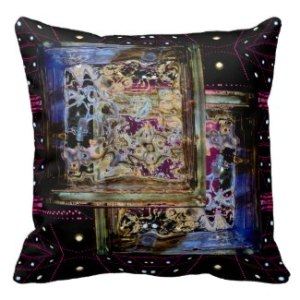 Cosmic Essence Bold Complex Modern Art Pillow by CricketDiane